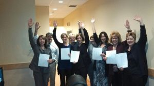 My 611 co-workers waving on my stem cells.  Love them!!