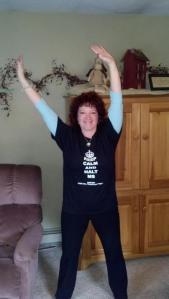 Alison Elder waving it up in Tyrone, PA.