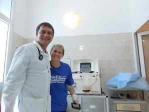 Me & Dr. Fedorenko.  Yes, he always has that twinkle in his eyes.
