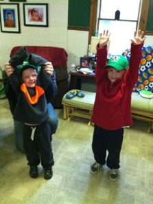 The Peters boys doing a double wave from Erie, PA.