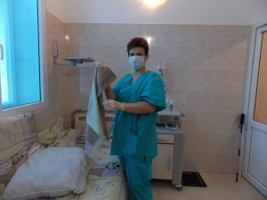 One of the cleaning staff who was always practicing her English.