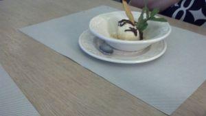 Kristy's birthday ice cream.
