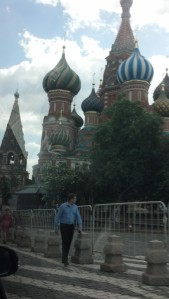 St. Basil's Cathedral on Red Square...from the taxi.