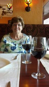 Mom and I enjoying a little Coke before dinner.
